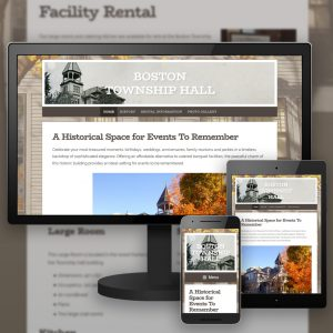 Boston Township Hall website - designed and developed by Stofka Creative Ltd.