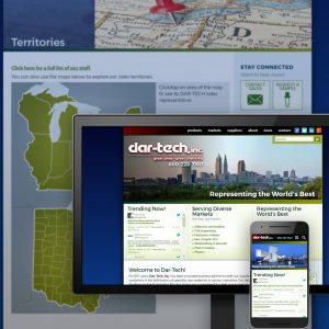 Dar-Tech, Inc. website - designed and developed by Stofka Creative Ltd. in conjunction with Catalyx Systems