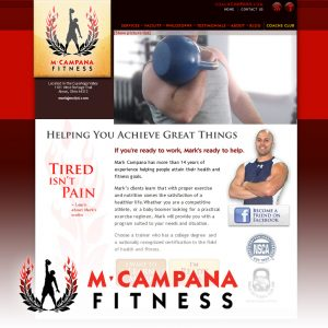M Campana Fitness website - designed and developed by Stofka Creative Ltd.