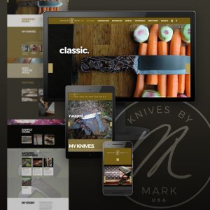 Knives By Mark website - designed and developed by Stofka Creative Ltd.